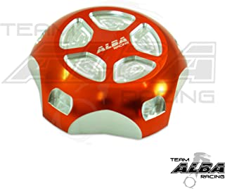 Polaris RZR XP1000 EPS (2014-2017) Gas Cap Billet Machined Orange/Silver (Available in Many Colors)