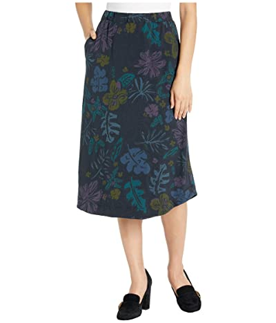 Fresh Produce Sketched Flora Long Avery Skirt (Black) Women