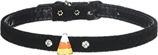Mirage Pet Products Candy Corn Charm Collar for Dogs, 14-Inch, Velvet