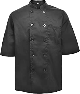 Unisex Short Sleeve Chef Coat Jacket