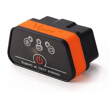 Vgate Icar 2 Bluetooth Eobd Obdii Obd 2 Kfz Auto Interface Diagnose Android Schwarz Orange Auto