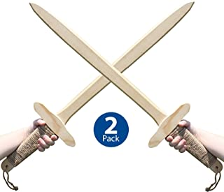 Adventure Awaits - Wooden Toy Sword - Handmade - Lightweight Wood Toy Sword set for Outdoor Play