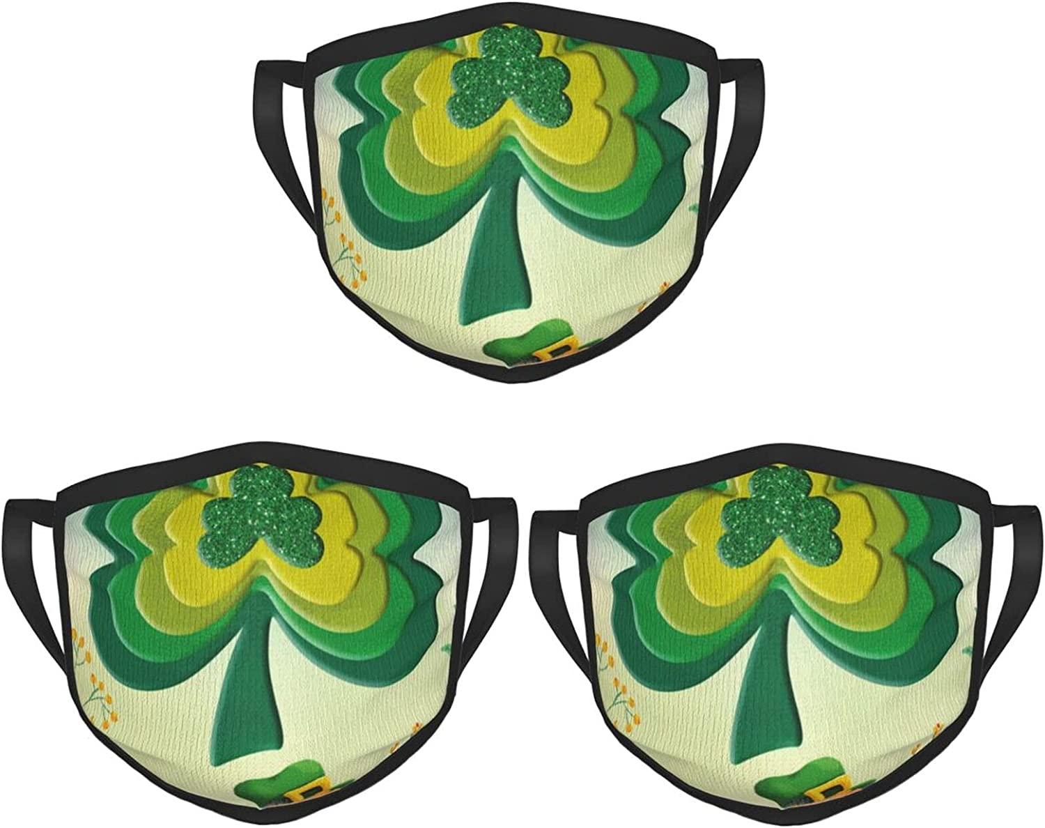 Balaclava Earmuffs Happy St Patricks Day Flower Face Mouth Cover Mask Reusable Windproof Scarf Towel Cover Headwrap