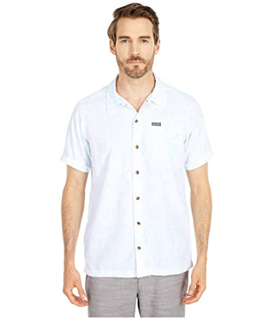 Columbia Outdoor Elementstm Short Sleeve Print Shirt (Sky Blue Wild Trees Print) Men