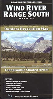 Beartooth Publishing Wind River Range South, Wyoming Topographic Shaded Relief Outdoor Recreation Map