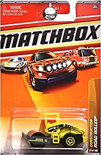 Matchbox Road Roller Yellow Construction Series (#1 of 14) 2010 Basic Die-Cast Vehicle (#37 of 100)