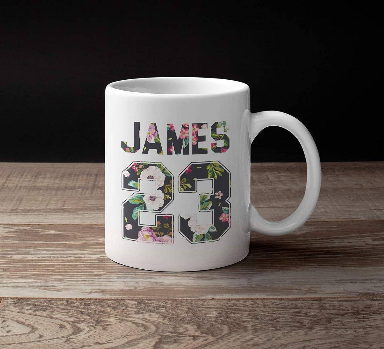 James-23 Mugs Basketball Los-Angeles Jersey Big Gift Fan Customized Handmade 11oz Accent Mug/Black Mug/15oz White Mug
