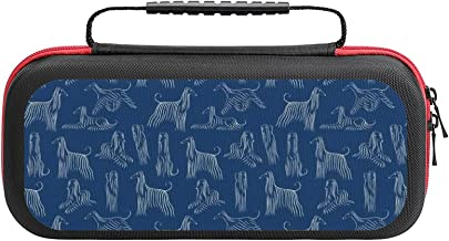 $26 » Afghan Hounds Pattern Case Compatible with Switch Case Protective Carry Bag Hard Shell Storage Bag Portable Travel Case fo...