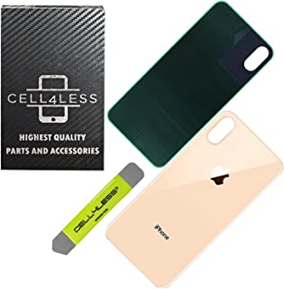 CELL4LESS Back Glass Replacement Compatible with and for The iPhone Xs MAX (Gold)