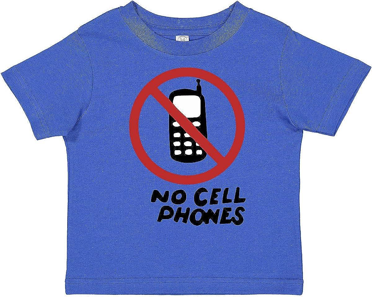 inktastic No Phones Toddler T-Shirt