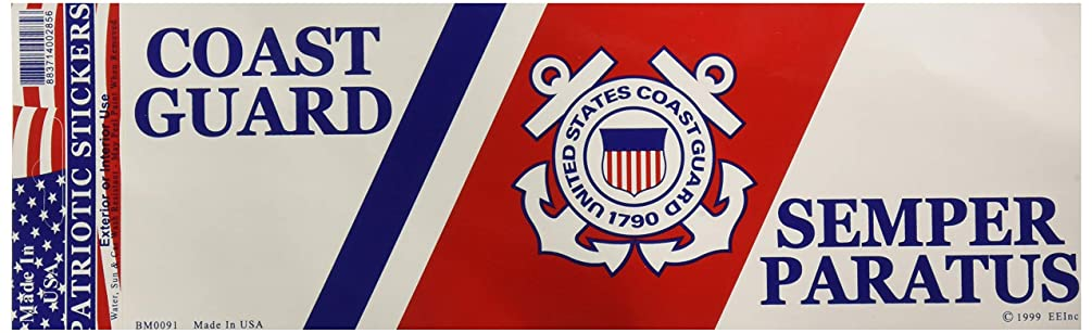 EagleEmblems BM0091 Sticker-USCG Logo (3.5x10'')