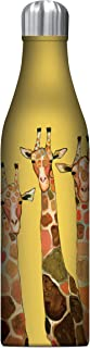 Studio Oh! WC004 25 oz. Insulated Stainless Steel Water Bottls, Giraffe