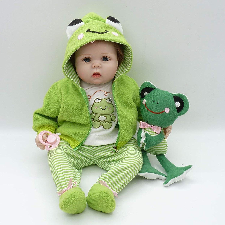 TreeonLife 55cm Lifelike Toddler Newborn Baby Doll Toys Full Body Soft Vinyl Baby Doll Nontoxic Safe Toys Handmade Baby Doll