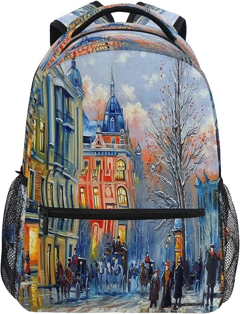 ATTX Old Town Kiev Backpack Travel for Casual and Women Daypacks All stores are sold Luxury