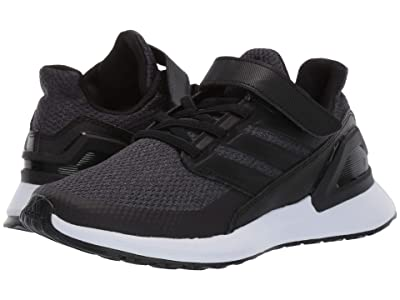 adidas Kids RapidaRun EL (Little Kid) (Black/Carbon/White) Boys Shoes