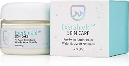 Pre Swim Lotion Balm - Chlorine Lotion for Swimmers - Chlorine Neutralizing Lotion and Swimmers Lotion by ExerShield