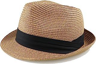 قبعة شمس مرنة للأطفال من القش قابلة للطي للصيف قصيرة الحافة قبعة شمس للأطفال الأولاد والبنات