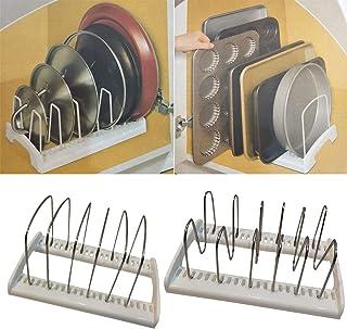 coperchi per pentole,Organizzatore Porta dellarmadietto di Finitura Multifunzione No Rack di stoccaggio Montato sullarmadio da Cucina per coperchi per pentole