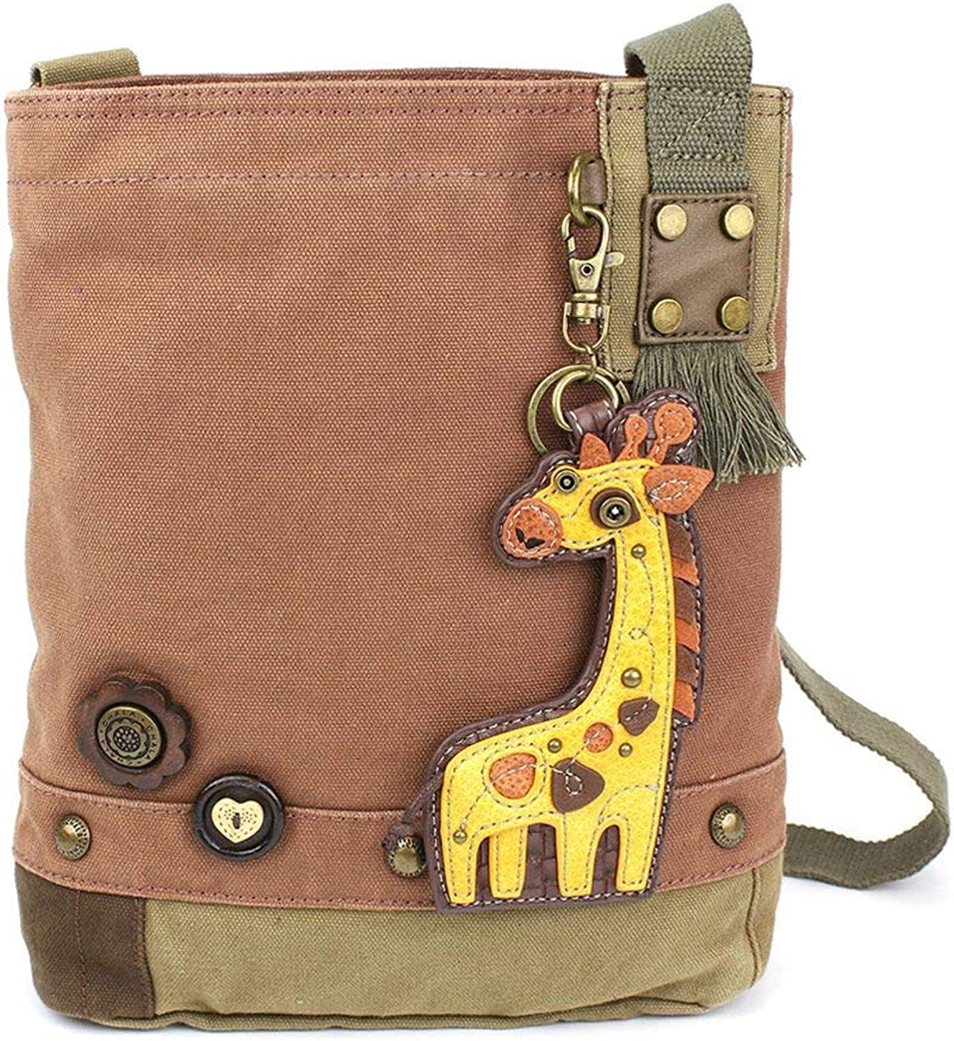 Chala Patch Crossbody Bag Canvas gift Mauve Purple purple Small Giraffe