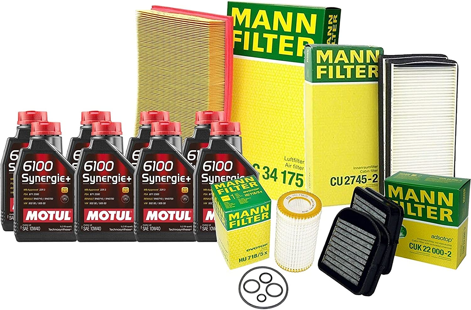 8L 6100 SYNERGIE10W40 Oil Filter S21 Compatible Kit Service Max 62% OFF High quality with