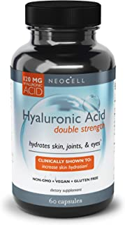 NeoCell - Hyaluronic Acid Double Strength - 60 Capsules (Packaging May Vary)