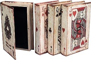 BEGINS Imitation book storage memory box jewelry storage box, using playing card j.q.k.a four patterns, surface retro silk...