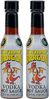 Swamp Dragon Vodka Based Hot Sauce Contains No Vinegar Make Eating Fun 10 oz 2 pack)