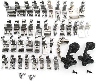 Sheens 6Pcs Todos los Accesorios de la m/áquina de Coser Industrial de prensatelas el/ástico de Acero con 1//8 3//16 1//4 5//16 3//8 1//2 prensatelas