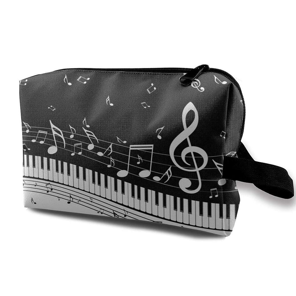 最大反応する発音する化粧ポーチ メイクポーチ 音楽とピアノの鍵盤 大容量 多機能 収納力抜群 軽量 便利 旅行用化粧ポーチ 小物入れ かわいい 人気 おしゃれ プレゼント 出張 旅行