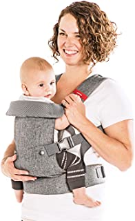 You+Me 4-in-1 Convertible Baby Carrier with 3D Cool Air Mesh - Heather Grey - Wear with a Newborn as Small as 8 lbs, and I...