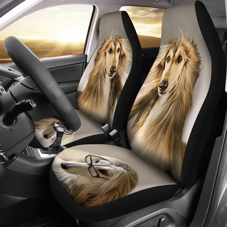 Afghan Hound Dog Print Car Seat Covers