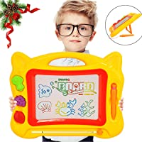 Rasse Kids Magnetic Drawing Board Doodle with Stand (Yellow)