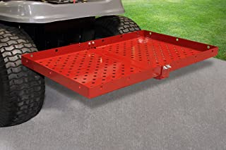 MoJack Multi-Use Hitch + Carrier Tray Combo - Fits Most Residential & Zero Turn Riding Lawn Mowers or ATVs, Provides an Easy Way to Transport Yard Supplies, 75 lb. Weight Capacity