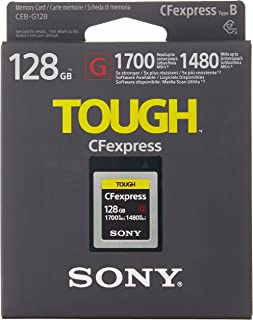 Sony CEB-G128 - Ultra-Fast CFexpress Memory Card (128GB, Read at 1700MB /s and Write at 1480MB /s)