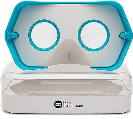 新改进的 DSCVR 虚拟现实查看器 适用于 iPhone 和 Android 智能手机 - 灵感来自谷歌卡 2.0 - Google WWGC 认证的 VR 查看器DSCVR 蓝色