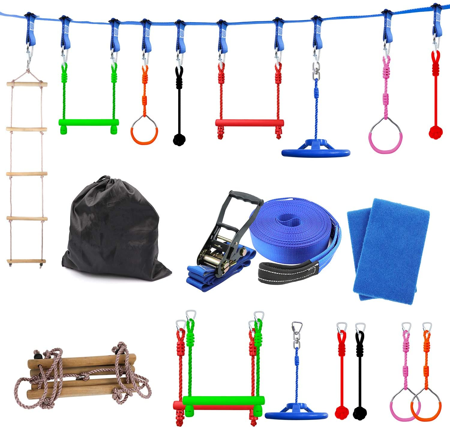 Sorbus Ninja Warrior Obstacle New mail order Course Training Line Gym Sale item Kids for