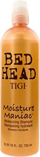 TIGI Bed Head Moisture Maniac Shampoo - For Lightweight Moisture, Replensishes Shine & Smoothness, Moisturizes Hair, For All Hair Types, 25.36 oz (Pack of 1)