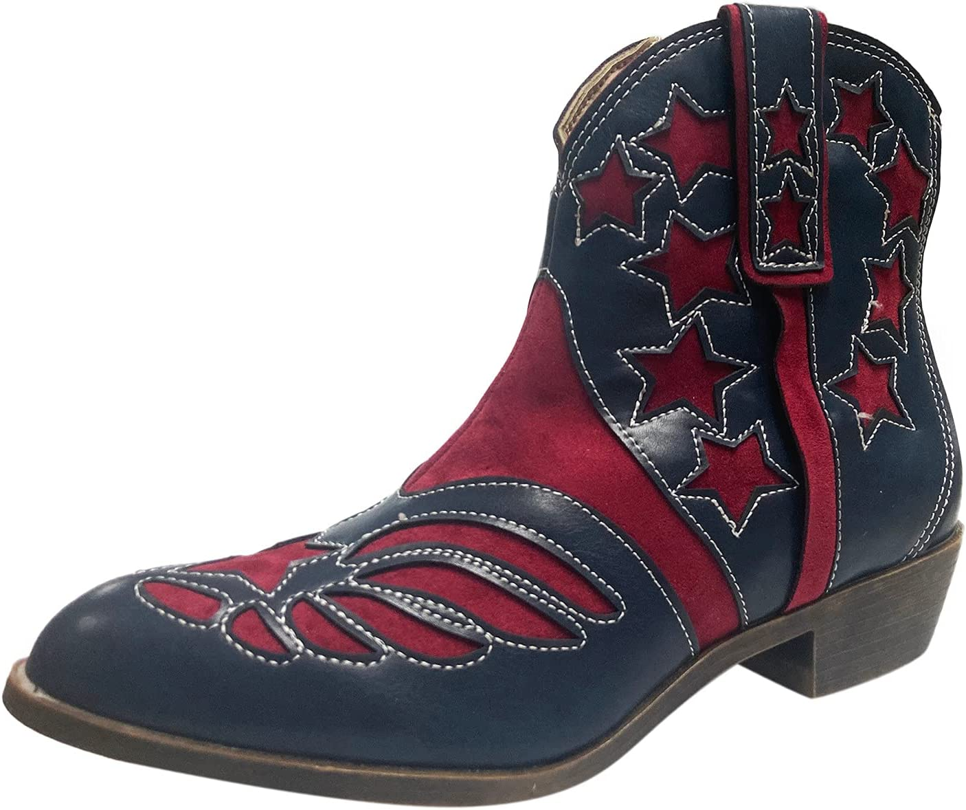 TIANMING security Cowboy Ankle Boots for Women Toe Cowgirl Very popular Point We Short