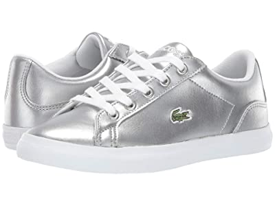 Lacoste Kids Lerond 119 4 CUC (Little Kid) (Silver/White) Girl