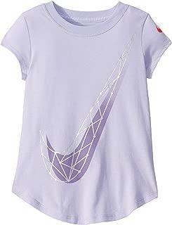 Nike Kids Girl's Logo Graphic Short Sleeve T-Shirt (Little Kids) Lavender Mist 6 Little Kids