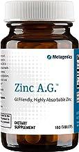 Metagenics Zinc A.G.™ – GI-Friendly Highly Absorbable Zinc – 180 servings