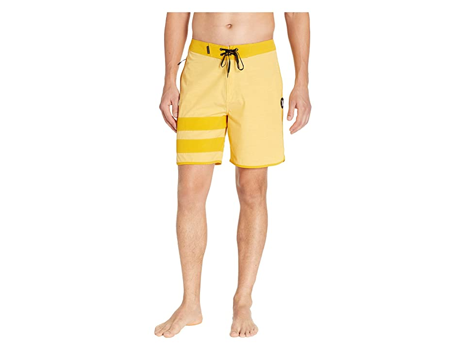 Hurley Phantom Block Party Slub 18 Boardshorts (Yellow Ochre) Men