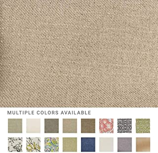 eLuxurySupply Fabric by The Yard - 100% Polyester Upholstery Sewing Fabrics with LiveSmart Technology - Broderick Hemp Pattern