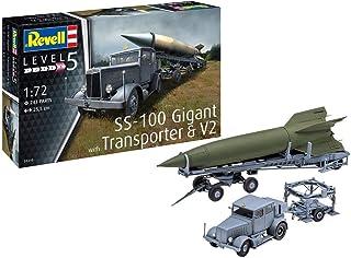 ドイツレベル 1/72 ドイツ陸軍 重牽引車 SS-100&トランスポーター&V2ロケット プラモデル 03310