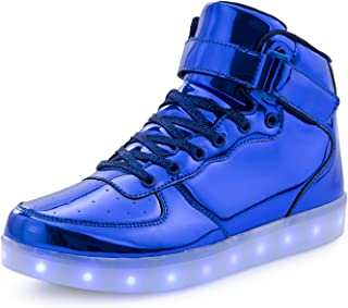 FLARUT Kids LED Light Up Shoes Boys Girls High Tops School Sneakers Christmas Party Dancing