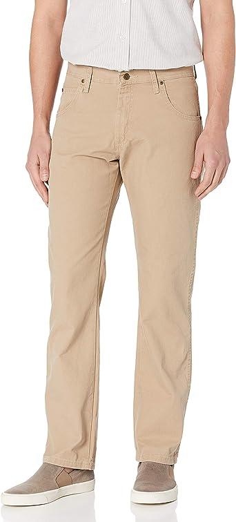 Amazon Com Wrangler Pantalones De Lona Para Hombre Ajuste Relajado Pierna Recta Clothing
