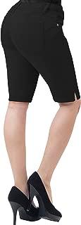 Womens 11.5 inch Inseam Butt Lift Stretch Bermuda Shorts