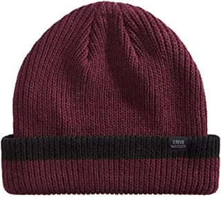 Steve Madden Mens Ribbed Knit Cuffed Beanie Hat