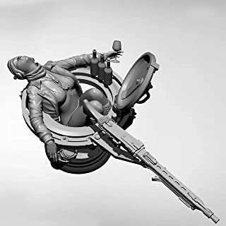 Risjc 1/18 Science fiction WWII tysk tank kvinnlig soldat harts modellsats, omonterad och omålad soldatkomponent — 93RJ29