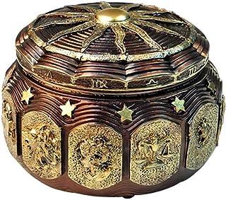 BGFBHTY Retro Zodiac 12 Signos Music Box Manual Arts 12 Constelación de Cajas Musicales con Luces de Flash Led Regalo de Cumpleaños del Día de San Valentín